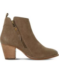 Dune | Pontoon Leather Ankle Boots | Lyst