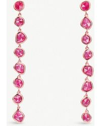 Monica Vinader - Siren 18ct Rose-gold Vermeil And Pink Quartz Nugget Cocktail Earrings - Lyst