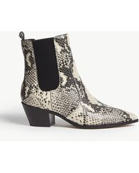PAIGE - Willa Faux Snakeskin Boots - Lyst
