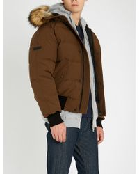 The Kooples - Padded Shell And Faux-fur Jacket - Lyst