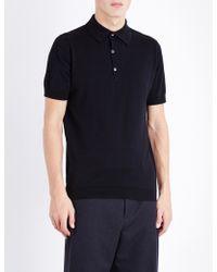 John Smedley - Sea Island Cotton Polo Shirt - Lyst