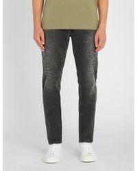 Balmain - Distressed Tapered Slim-fit Jeans - Lyst