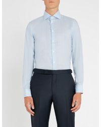 Richard James - Checked Contemporary-fit Cotton Shirt - Lyst