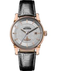 Vivienne Westwood - Vv065swhbk Finsbury Ii Stainless Steel And Leather Watch - Lyst
