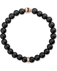 Thomas Sabo - Rebel At Heart Gold-plated And Matte Obsidian Bracelet - Lyst