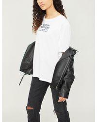 Cheap Monday - Sender Cotton-jersey T-shirt - Lyst