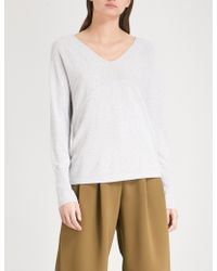The White Company - Relaxed-fit Knitted Jumper - Lyst