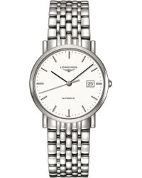 Longines - L4.809.4.12.6 Elegant Collection Stainless Steel Watch - Lyst