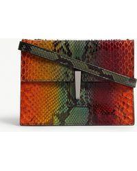 Hayward - Python Leather Mini Clutch - Lyst