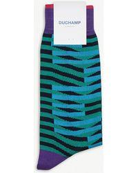 Duchamp - Drop Lines Cotton-blend Socks - Lyst