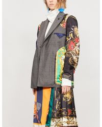 Toga - Baroque-panel Wool Jacket - Lyst