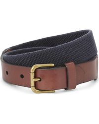 Pink Pony - Elasticated Canvas And Leather Belt - Lyst