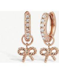 Olivia Burton - Rose-gold Plated Vermeil And Sterling Silver Hoop Earrings - Lyst