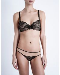 Silent Assembly - Xia Stretch-lace Contour Plunge Bra - Lyst