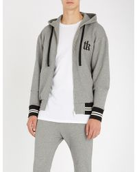 The Kooples - Slogan-embroidered Cotton-blend Hoody - Lyst