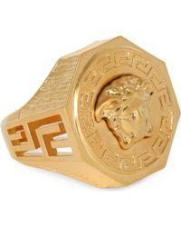 Versace | Medusa Greca Gold-plated Ring | Lyst