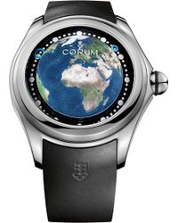 Corum   L390-03257 Big Bubble Magical 52 Earth Titanium And Rubber Watch   Lyst
