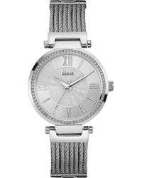 Guess - W0638l1 Soho Stainless Steel Watch - Lyst