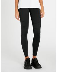 Calvin Klein - Logo-embroidered Stretch-jersey Leggings - Lyst