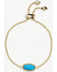Kendra Scott - Elaina 14ct Yellow Gold-plated And Aqua Howlite Bracelet - Lyst