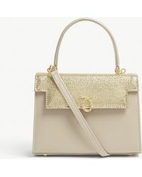 Launer - Gold Judi Stingray Embossed Leather Tote Bag - Lyst