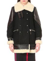 Altuzarra - Ismir Wool-blend And Leather Coat - Lyst