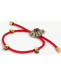 Alexander McQueen - Jewelled Charm Leather Bracelet - Lyst