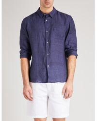 Derek Rose - Solid Linen Shirt - Lyst