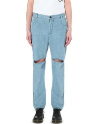 69 - Distressed Slim-fit Mid-rise Jeans - Lyst