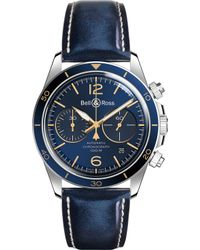 Bell & Ross | Brv294bugstsca Vintage Br Steel And Leather Strap Watch | Lyst