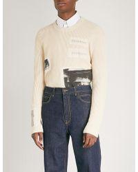 CALVIN KLEIN 205W39NYC - Andy Warhol Patch Cotton Jumper - Lyst