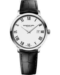 Raymond Weil - 5488-stc-00300 Toccata Stainless Steel And Leather Watch - Lyst