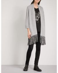 Zadig & Voltaire | Paloma Deluxe Cashmere And Leather Cardigan | Lyst