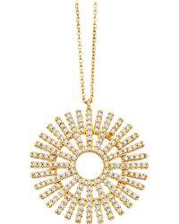 Astley Clarke - Rising Sun Large 18ct Gold Diamond Pendant - Lyst