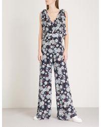 Claudie Pierlot - Floral-pattern Chiffon Jumpsuit - Lyst
