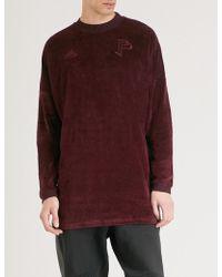 adidas - Paul Pogba Brand-embroidered Velvet Sweatshirt - Lyst