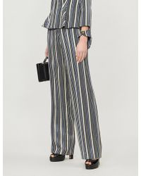 Peter Pilotto - Lurex Striped Silk Tailored Trousers - Lyst