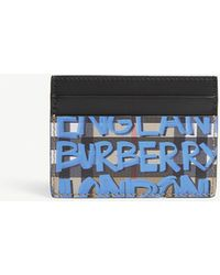 Burberry - Graffiti Vintage Check Leather Card Holder - Lyst