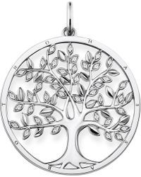 Thomas Sabo - Tree Of Life Sterling Silver And Zirconia Pendant - Lyst