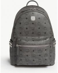 15f90112f45 Mcm Stark Firmament Medium Leather Backpack in Black for Men - Lyst