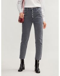 J Brand - Heather Mid-rise Straight Jeans - Lyst