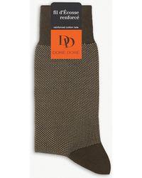 Doré Doré - Pin-dot Print Cotton-blend Socks - Lyst