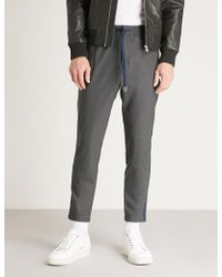 The Kooples - Slim-fit Tapered Stretch-wool Trousers - Lyst