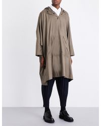 Homme Plissé Issey Miyake - Hooded Shell Cape - Lyst