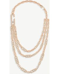 171eb7689ed6a9 Messika Women's Glam'azone Diamond & 18k Pink Gold Pendant Necklace ...