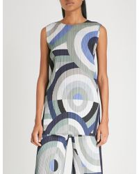 Pleats Please Issey Miyake - Sleepy Circle Pleated Tunic Top - Lyst