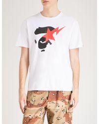 A Bathing Ape - Bapesta-print Cotton-jersey T-shirt - Lyst