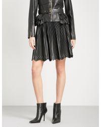 Elie Saab   Pleated High-rise Leather Skirt   Lyst