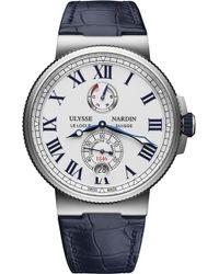 Ulysse Nardin - 1183-122/40 Marine Chronometer Stainless Steel Watch - Lyst