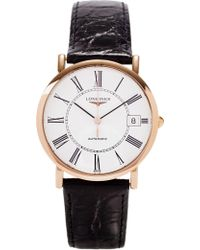Longines - L4.778.8.11.0 Presence Rose Gold-plated Steel Watch - Lyst